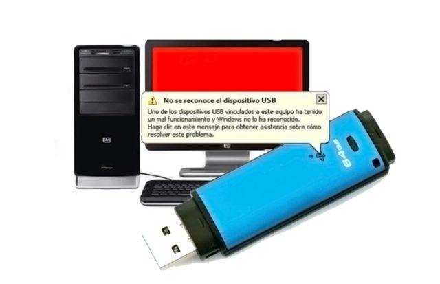 PC no reconoce USB