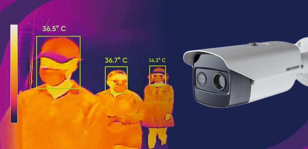 Cámara de detección de temperatura Hikvision